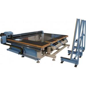 CNC STOL ZA REZANJE STAKLA SA AUTOMATSKIM UTOVAROM (glass cutting table with automatic glass loader) ROBOTECH